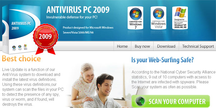 Antiviruspc2009. com