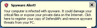 DefendAPc fake alert