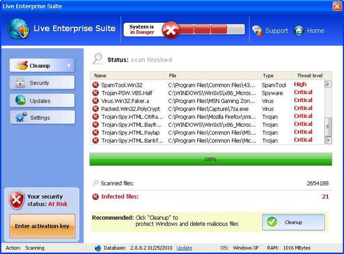 Live Enterprise SuiteLive Enterprise Suite graphical user interface