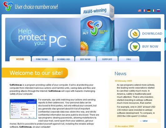SoftVeteran home page