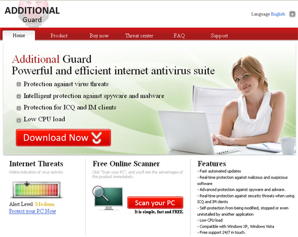 Additionalguard.net - the home page of Additional Guard