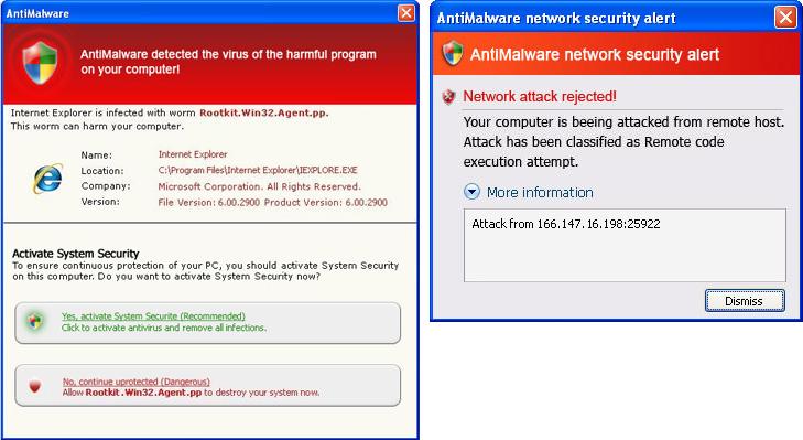 AntiMalware fake security alerts