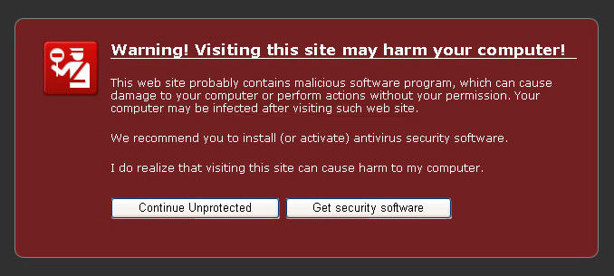 Antivir - fake Internet Explorer warning