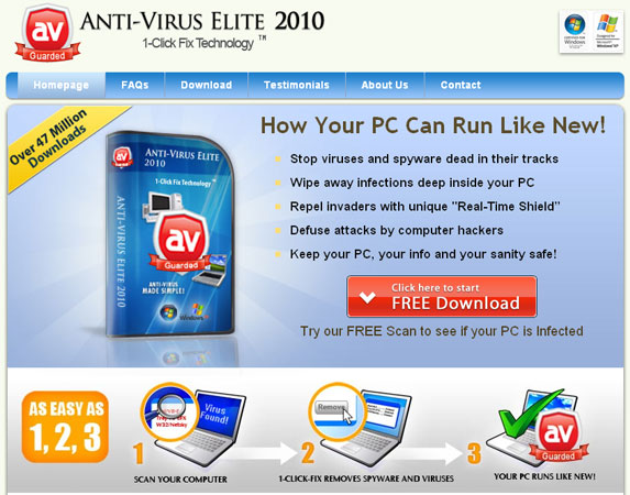 Antivirus-elite.com screenshot