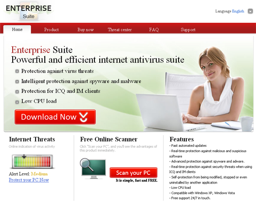 Enterprise Suite - home page