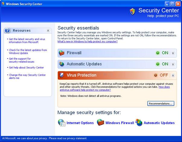 KeepCop - fake security center