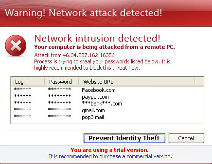Paladin Antivirus fake security alert