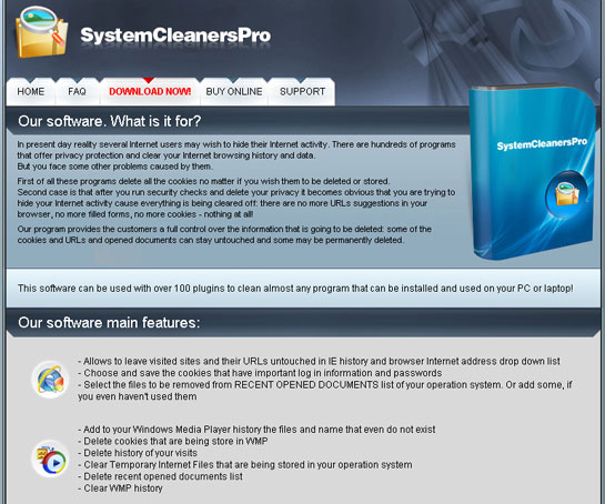 Systemcleanerspro .net - SystemCleanerPRO home page
