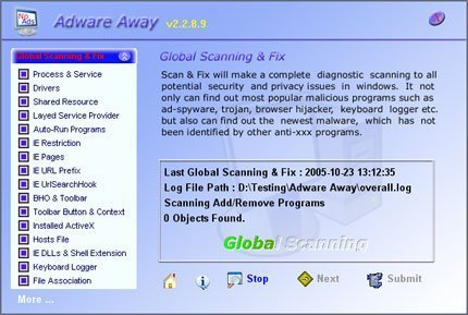 Adware Away software