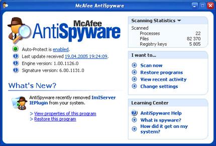 McAfee AntiSpyware 2.1.111