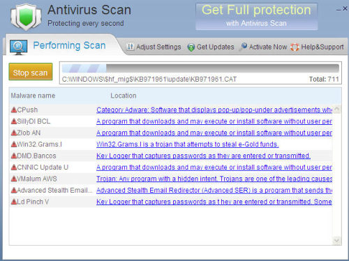 Antivirus Scan removal