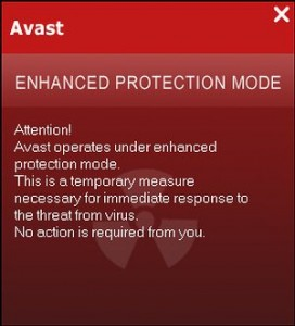 Avast Enhanced Protection Mode removal