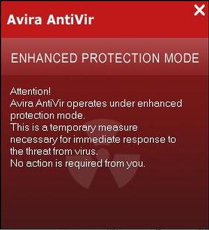 Avira AntiVir Enhanced Protection Mode removal
