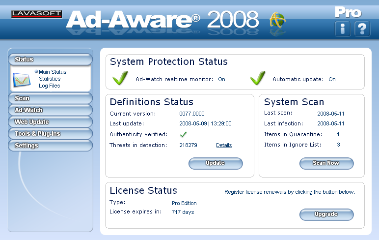 Ad Aware Pro software
