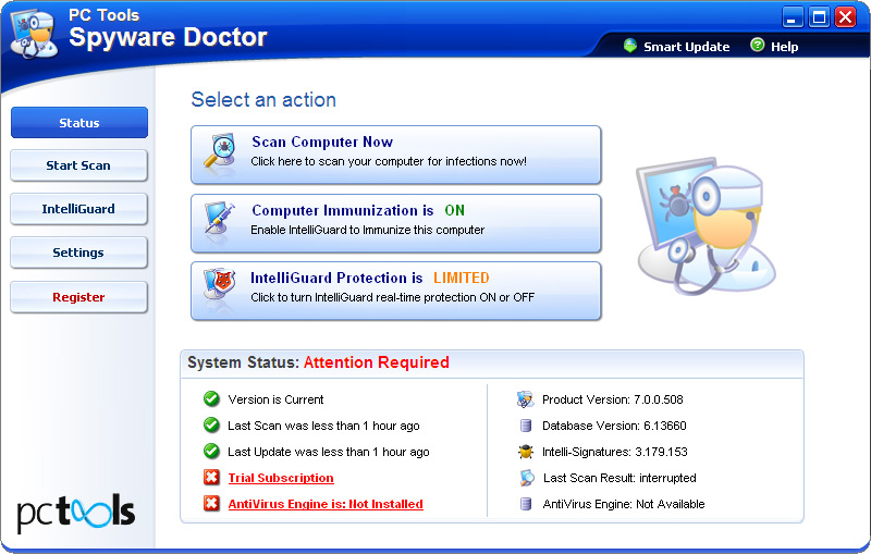 Spyware Doctor software