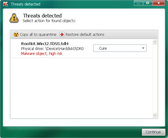 Rootkit.TDSS removal