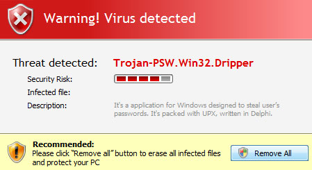 Trojan-PSW.Win32.Dripper removal