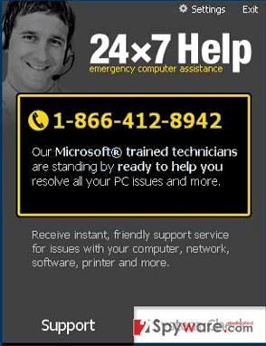 24x7 Help snapshot