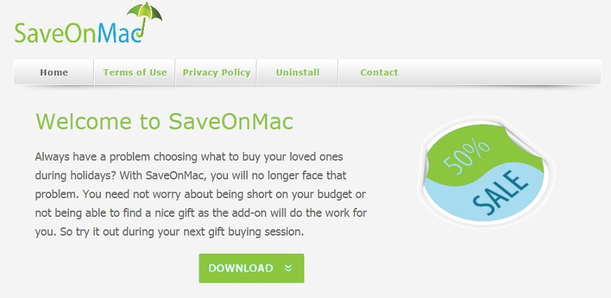 SaveOnMac ads