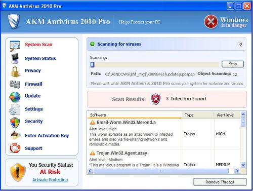 AKM Antivirus 2010 Pro snapshot