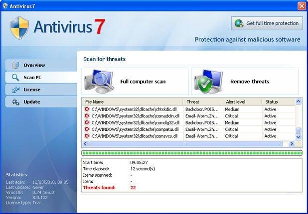 Antivirus 7 snapshot