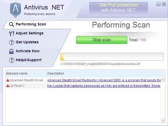 Antivirus .NET snapshot