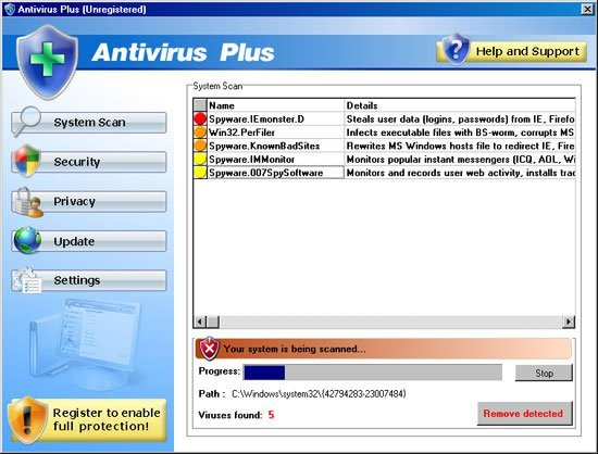Antivirus Plus snapshot