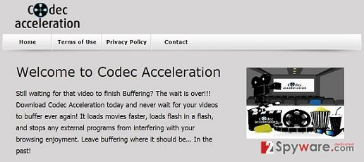 Codec Acceleration adware