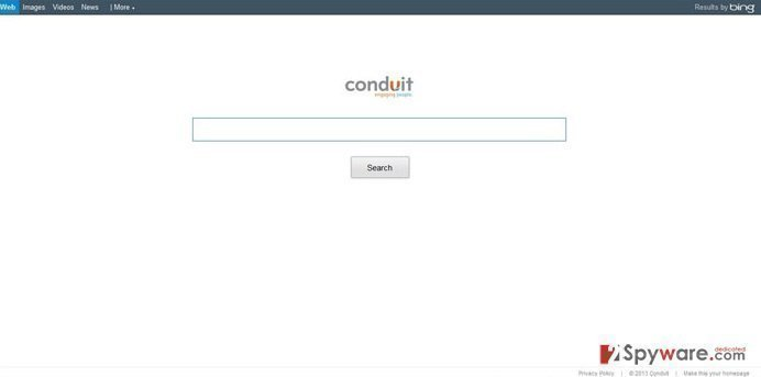 Search.conduit.com Virus snapshot