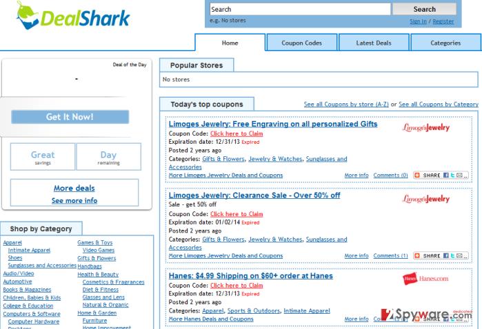 DealShark ads