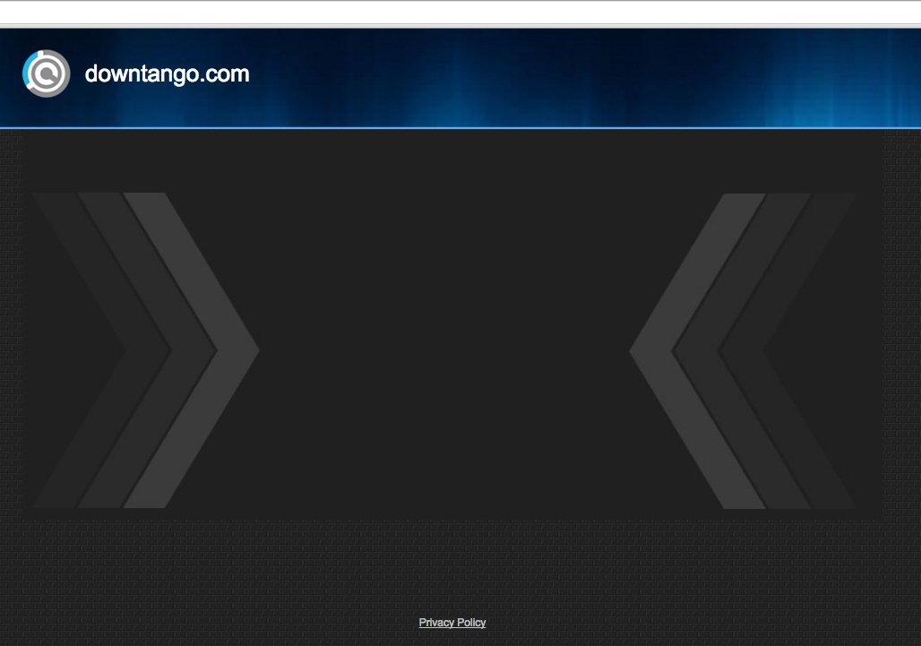 A screenshot of the DownTango virus website