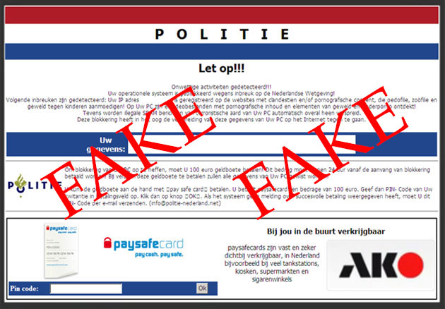 Dutch Police Virus snapshot