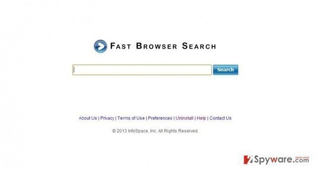 Fast Browser Search snapshot
