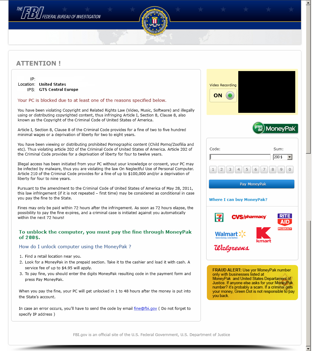 FBI Moneypak snapshot