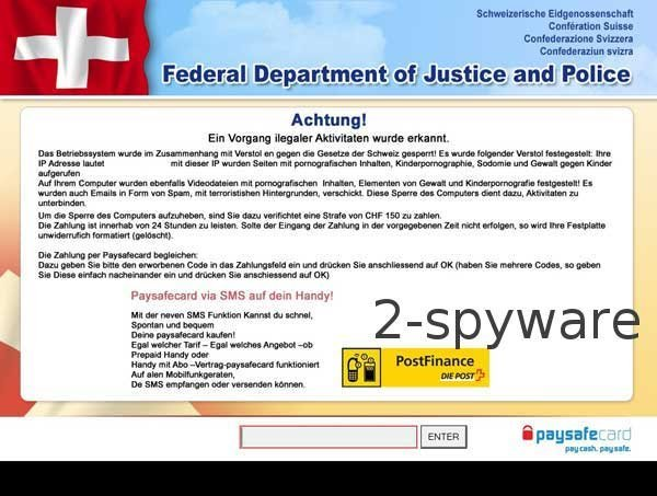 Federal Department of Justice and Police ransomware snapshot