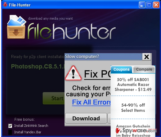 FileHunter removal steps
