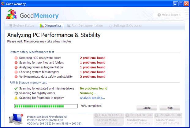 Good Memory snapshot