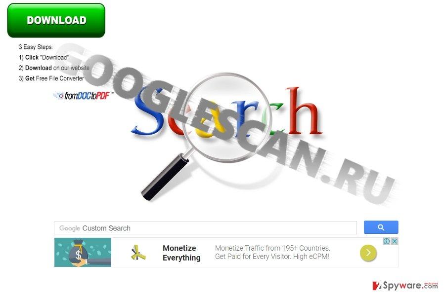 The image displaying Googlescan.ru