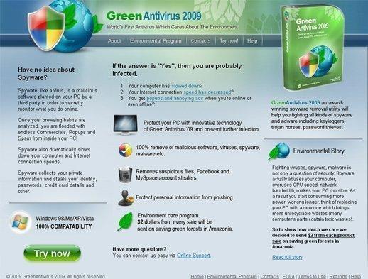 Green Antivirus 2009 snapshot