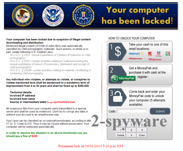 Homeland Security virus snapshot