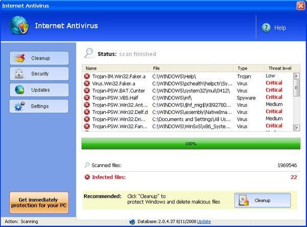 Internet Antivirus Pro snapshot