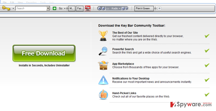 KeyBar Toolbar snapshot