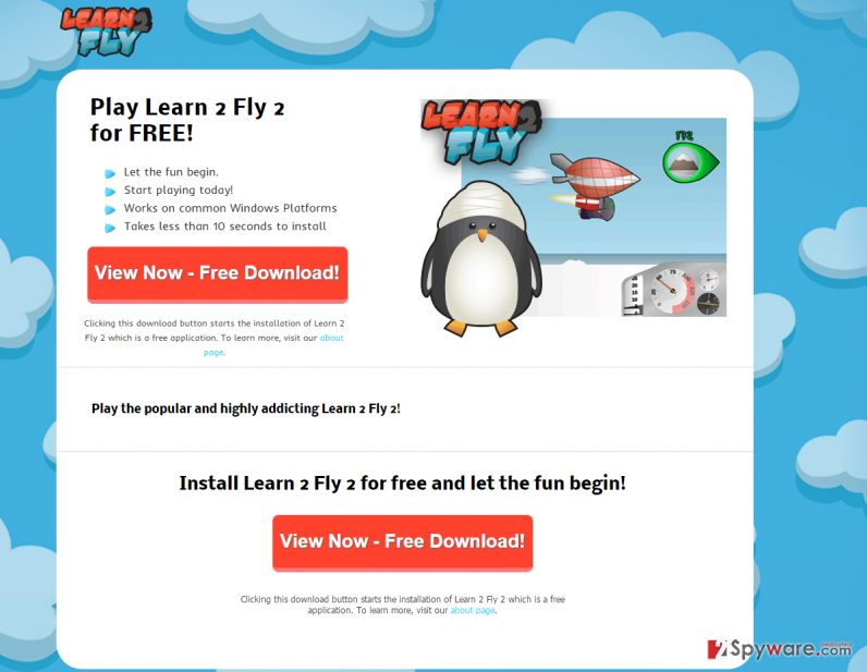 Learn 2 Fly 2 adware