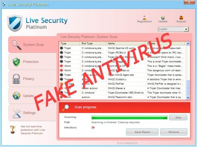 Live Security Platinum snapshot