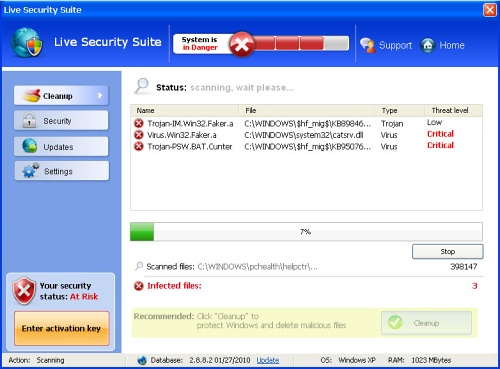 Live Security Suite snapshot