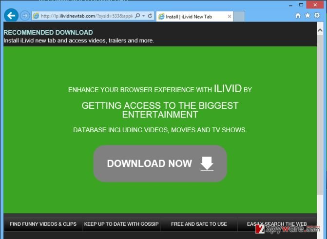 Remove Lp.ilividnewtab.com pop-up virus, removal guide