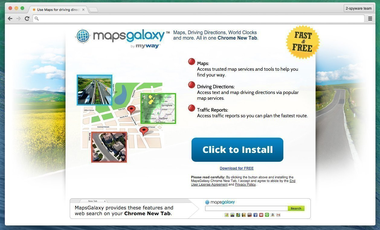 MapsGalaxy potentially unwanted program