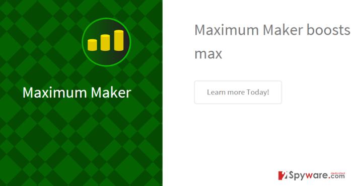 Maximum Maker