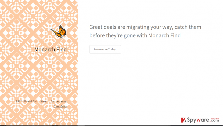 Getting rid of Monarch Find ads