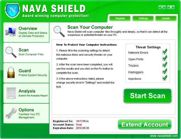 Nava Shield snapshot